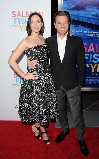 «Рыба моей мечты». Эмили Блант (Харриет) и Юэн МакГрегор (Альфред Джонс) на премьере фильма «Рыба моей мечты» в Лос-Анджелес, Калифорния. Фото: Jason Merritt/Getty Images