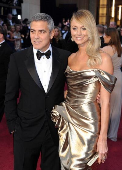 Джордж Клуни. Джордж Клуни и актриса Стэйси Кейблер на 84-й церемонии вручения призов Киноакадемии США в Голливуде. Фото: Michael Buckner/Getty Images