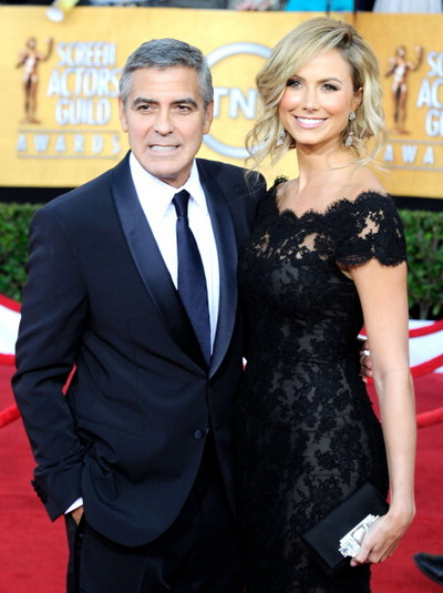 Джордж Клуни. Джордж Клуни и Стэйси Кейблер на 18-й церемонии вручения призов Гильдии Киноактеров США. 2012 год. Фото: Frazer Harrison/Getty Images