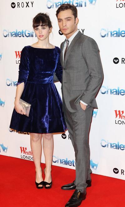 «Как выйти замуж за миллиардера». Фелисити Джонс и Эд Вествик на премьере фильма «Как выйти замуж за миллиардера» в Лондоне, Англия. Фото: Dave Hogan/Getty Images