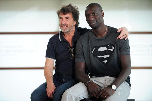 «1+1». Актеры Франсуа Клюзе и Омар Се на кинофестивале в Испании. Фото: RAFA RIVAS/AFP/Getty Images