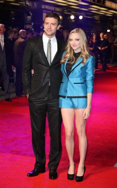 «Время». Актеры Джастин Тимберлэйк и Аманда Сайфред на премьере фильма «Время» в Лондоне, Англия. Фото: Tim Whitby/Getty Images
