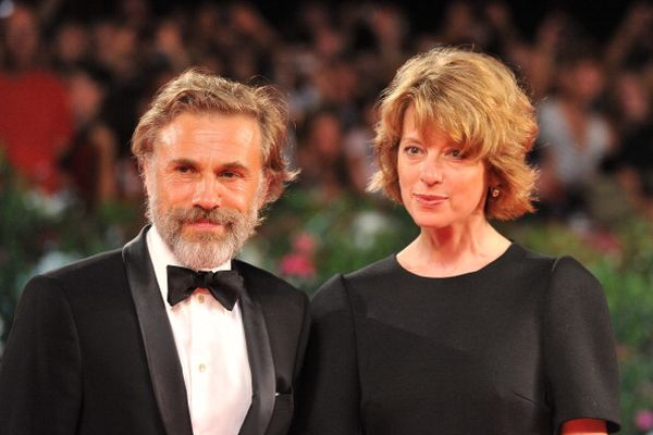 «Резня». Кристоф Вальц с супругой Джудит Вальц на кинофестивале в Венеции. Фото: ALBERTO PIZZOLI/AFP/Getty Images