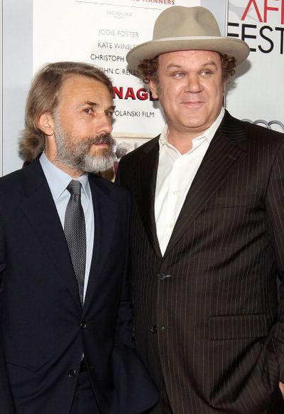 «Резня». Кристоф Вальц и Джон Си Райли на премьере фильма «Резня» в Голливуде, Калифорния. Фото: Christopher Polk/Getty Images for AFI
