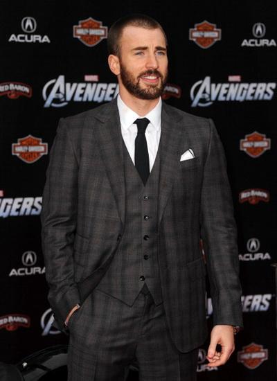 «Мстители». Крис Эванс (Капитан Америка) на премьере фильма «Мстители» в Голливуде, Калифорния. Фото: Kevin Winter/Getty Images