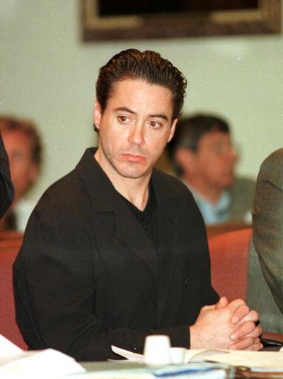 Роберт Дауни мл. в зале суда. 2000 год. Фото: Jason Kirk/Newsmakers