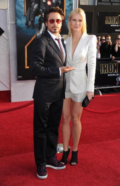 Роберт Дауни мл. и актриса Гвинет Пэлтроу на премьере фильма «Железный человек 2». 2010 год. Фото: Frazer Harrison/Getty Images