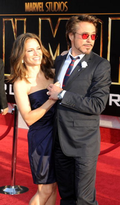 Роберт Дауни мл. и Сюзан Дауни на премьере фильма «Железный человек 2». 2010 год. Фото: Frazer Harrison/Getty Images
