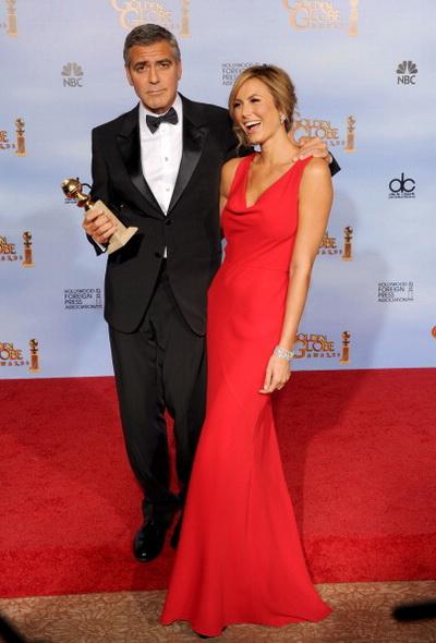 «Потомки». Актер Джордж Клуни и актриса Стэйси Кейблер на 69-й церемонии вручения «Золотого глобуса». Фото: Kevin Winter/Getty Images