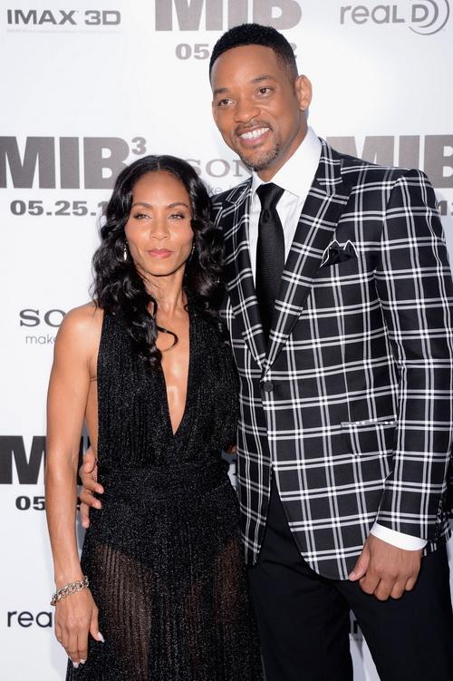 «Люди в чёрном 3». Уилл Смит с супругой Джадой Пинкетт Смит на премьере фильма «Люди в чёрном 3» в Нью-Йорке. Фото: Stephen Lovekin/Getty Images