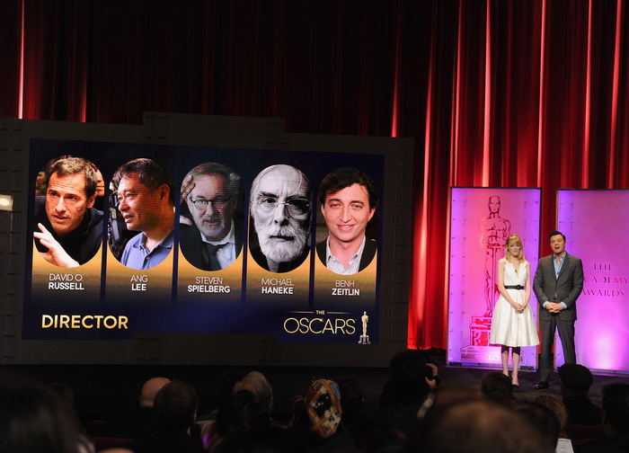 Объявлены номинанты на приз «Оскар». Эмма Стоун и Сет МакФарлейн объявляют номинантов в номинации  «Лучший режиссёр». Фото: Kevin Winter/Getty Images