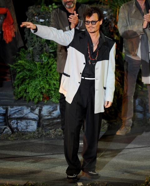 Джонни Депп на премьере Пиратов Карибского моря, 7 мая  2011, Диснейлэнд, Анахайма, штат Калифорния. Фото: Frazer Harrison/Getty Images
