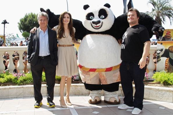 Анджелина Джоли, Дастин Хоффман и  и Джек Блэк в Каннах: фотосессия