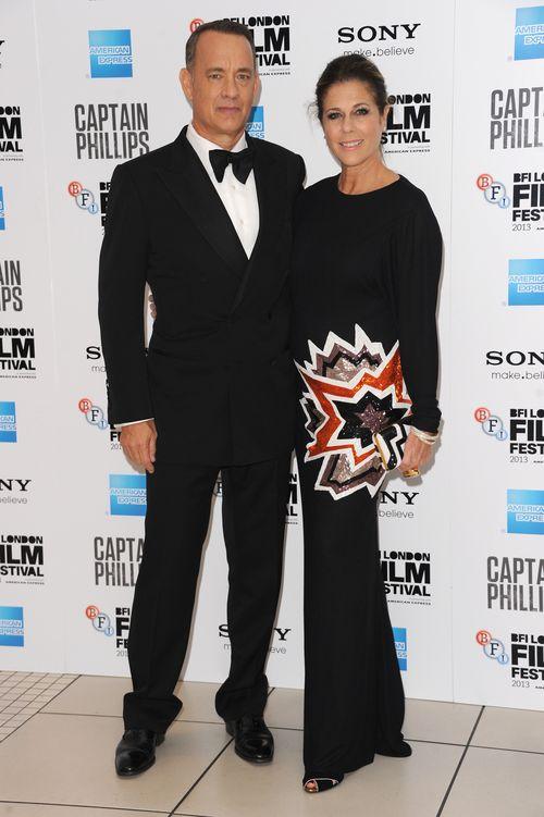 «Капитан Филлипс». Том Хэнкс с супругой Ритой Уилсон на премьере фильма «Капитан Филлипс» в Лондоне, Англия. Фото: Stuart C. Wilson/Getty Images for BFI