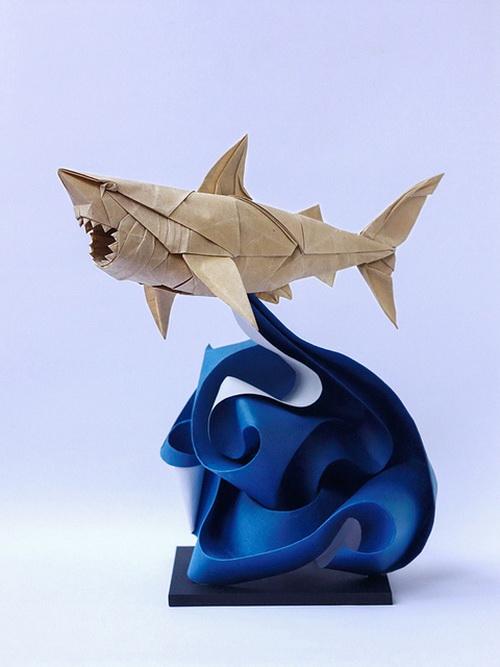 Удивительные оригами-скульптуры. Фото: flickr.com