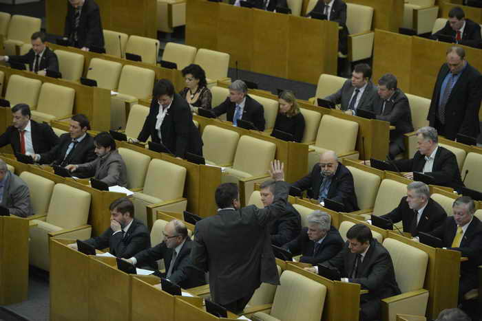 Депутаты Госдумы проведут новогодний корпоратив за свой счёт. Фото: NATALIA KOLESNIKOVA/AFP/Getty Images