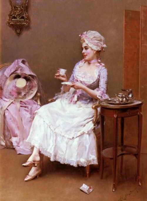 Картина «Горячий шоколад» Раймундо де Мадрасо и Гаррета(1841-1920).
