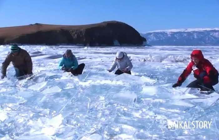 Живой звук байкальского льда. Фото: Screenshot/YouTube