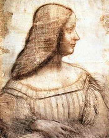 Лувр. Леонардо да Винчи, «Изабелла д'Эсте», эскиз к неосуществлённому портрету. Фото: wikipedia.org
