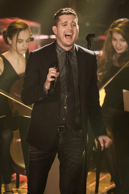 Майкл Бубле выступил в полуфинале конкурса «Голос Германии» 13 декабря 2013 года в Берлине. Фото: Timur Emek/Getty Images