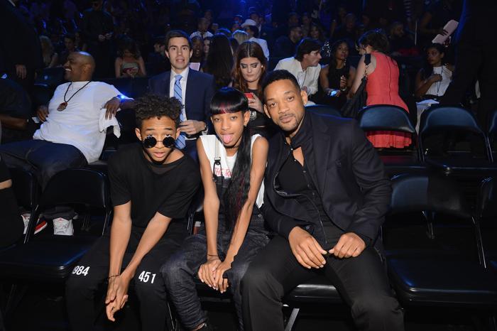 Уилл Смит с детьми Джейденом и Уиллоу посетил вручения премии MTV (Video Music Awards) за лучшие музыкальные видео-клипы в Нью-Йорке (США) 25 августа 2013 года. Фото: Larry Busacca/Getty Images for MTV