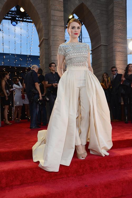 Холлен Роден посетила церемонию вручения премии MTV (Video Music Awards) за лучшие музыкальные видео-клипы в Нью-Йорке (США) 25 августа 2013 года. Фото: Larry Busacca/Getty Images for MTV