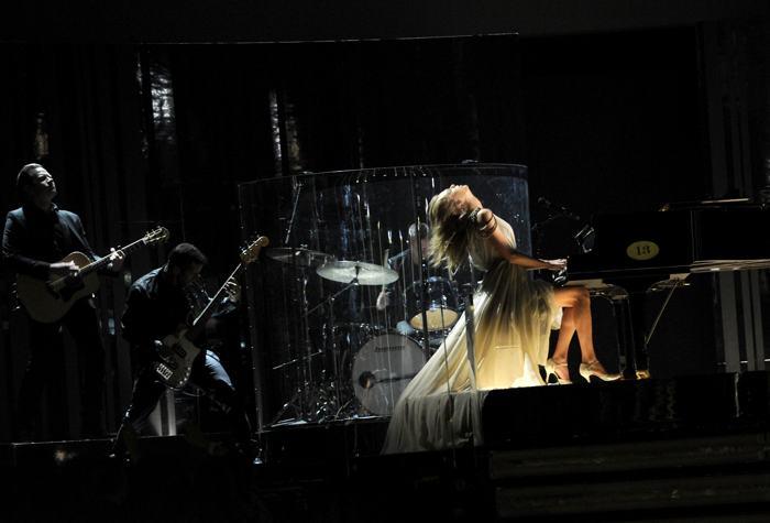 Тейлор Свифт на церемонии  «Грэмми» 26 января 2014 года в США. Фото: Kevork Djansezian/Getty Images