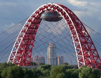 Смотровой павильон в конструкциях Живописного моста планируется отдать под отделение ЗАГС. Фото: gdeetotdom.ru