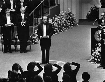 А.И. Солженицын на церемонии вручения Нобелевской премии. Стокгольм, 10 декабря 1974 года. Фото: solzhenitsyn.ru