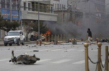 Демонстрация против китайской оккупации Тибета. Фото с сайта  amigo.hiblogger.net
