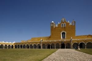 Атриум монастыря Изамаль является вторым по величине после Ватикана. Фото: Mahaux Photos