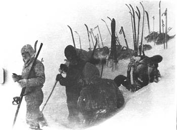 Последний снимок с плёнки туристической группы Дятлова. Фото: nashural.ru