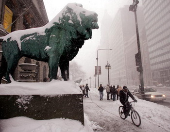 Зима в Чикаго. Фото: Scott Olson/Getty Images