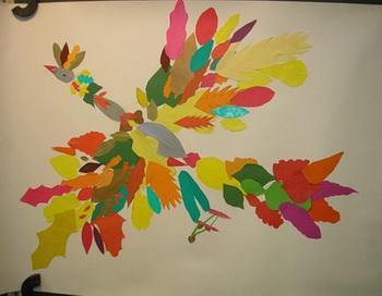 Птица - Осень глазами учеников 2 Б класса школы 1360. Из семейного альбома Ирины Митюшиной