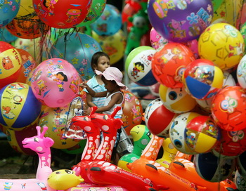 Чудо-звери шарики. Фото: ADEK BERRY/AFP/Getty Images