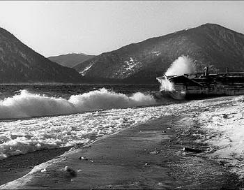 Верховка на Телецком озере. 1958г. Фото: Дмитрий Житенёв