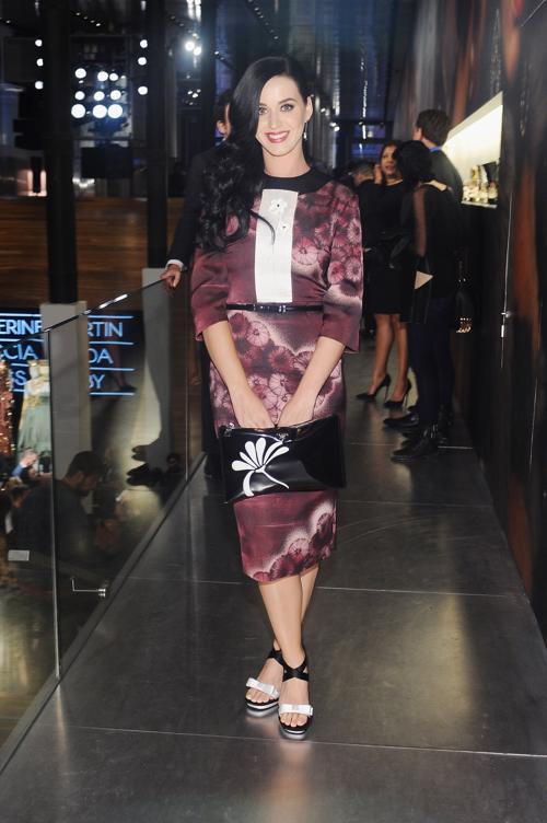 Кэти Перри в платье Prada на выставке коллекции Миучча Прада к фильму «Великий Гэтсби». Фото: Stefanie Keenan/Getty Images for Prada