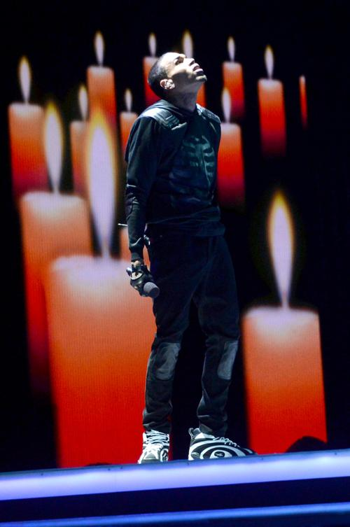 Крис Браун на церемонии вручения премии BET Awards в Лос-Анджелесе 13 июня 2013 года. Фото: Jason Merritt/Getty Images for BET
