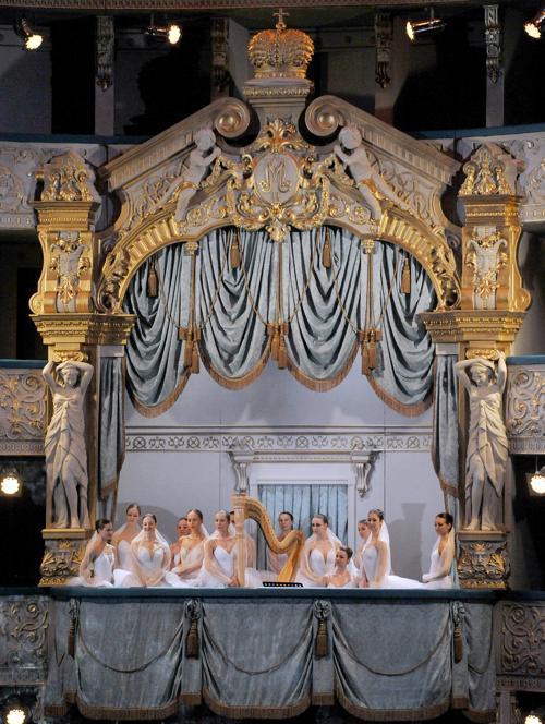 Выступление балета на новой сцене Мариинского театра. Фото: OLGA MALTSEVA/AFP/Getty Images