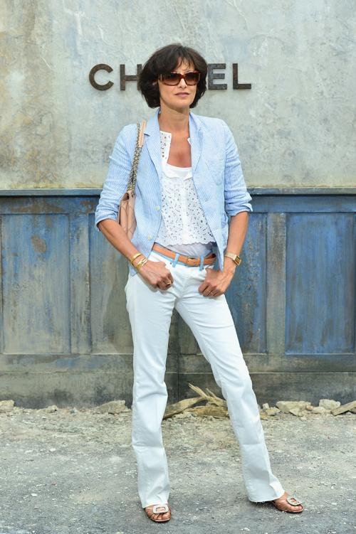 Инес де ла Фресанж на показе новой коллекции Chanel в Париже 2 июля 2013 года. Фото: Pascal Le Segretain/Getty Images