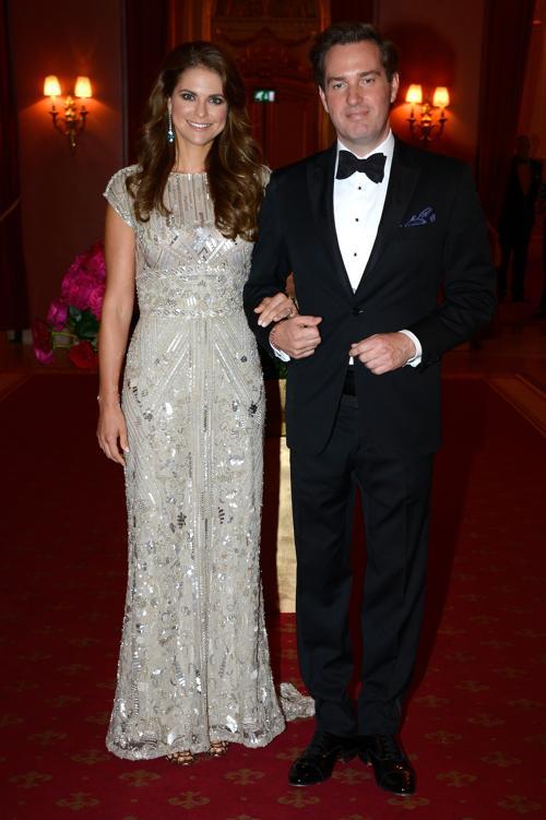 Принцесса Швеции Мадлен и Кристофер ОНила на праздничном ужине перед свадьбой. Фото: Pascal Le Segretain/Getty Images