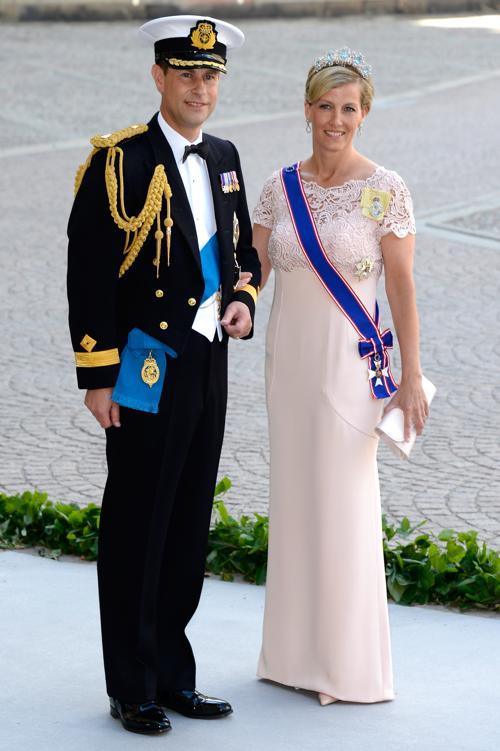 Принц Эдуард, граф Уэссекса, и графиня Уэссекса Софи на свадьбе принцессы Мадлен и Кристофера ОНила в Швеции. Фото: Pascal Le Segretain/Getty Images