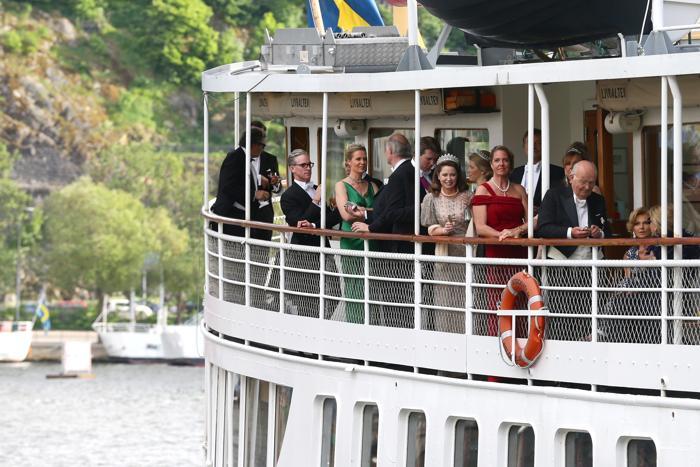 Гости на свадьбе принцессы Мадлен и Кристофера ОНила в Швеции. Фото: Vittorio Zunino Celotto/Getty Images