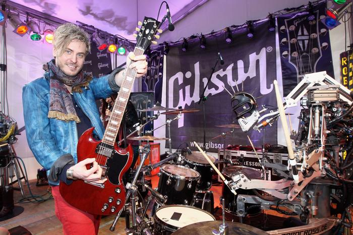 Гитары Gibson представили на международной выставке во Франкфурте. Фото: Mathis Wienand/Getty Images for Gibson