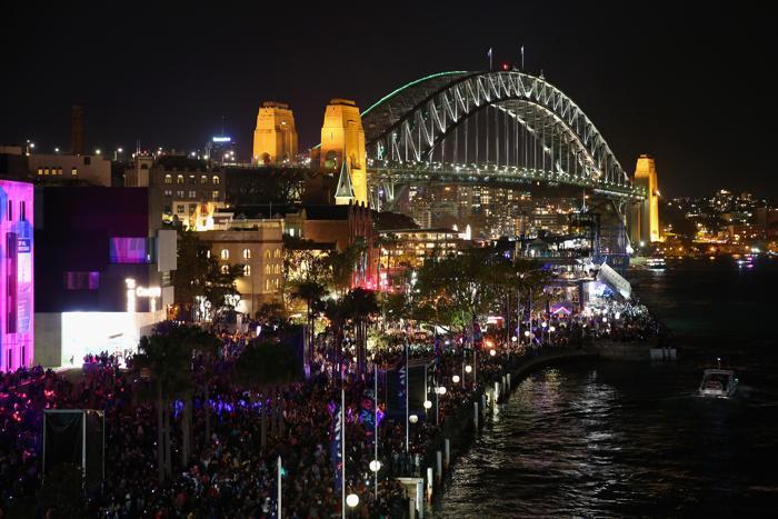 Пик фестиваля света в Сиднее пришёлся на последние выходные в окончании светового шоу. Фото: Cameron Spencer/Getty Images