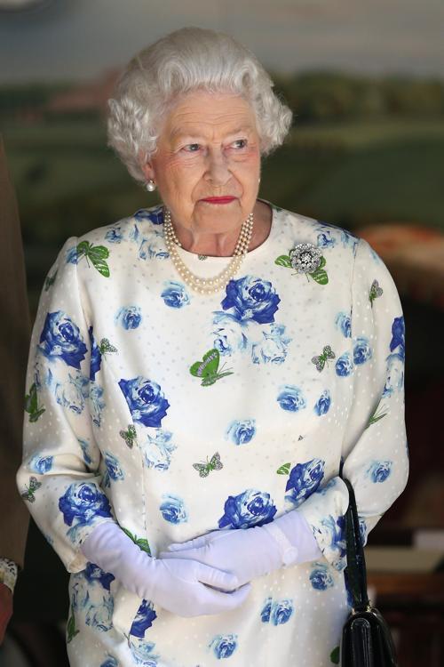 Королева Великобритании Елизавета II на Коронационном фестивале в Букингемском дворце 11 июля 2013 года. Фото: Oli Scarff/Getty Images