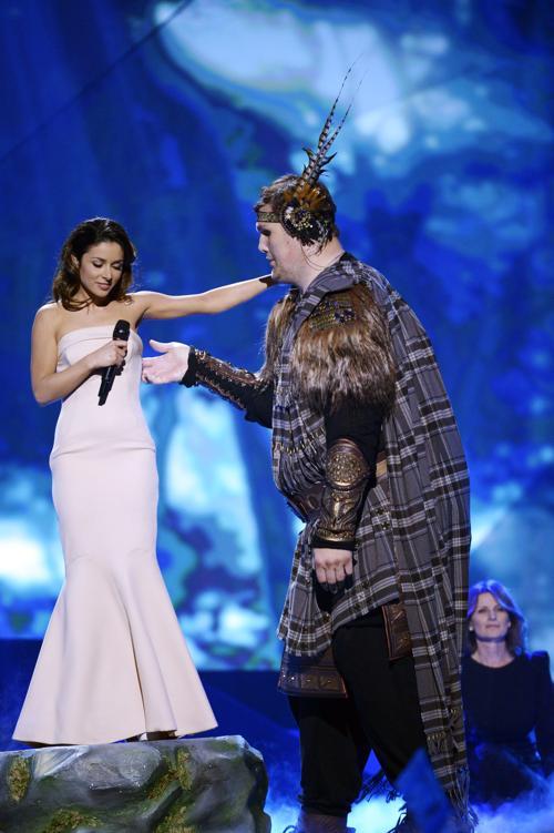 Злата Огневич из Украины выступает в первом полуфинале Евровидения-2013 в Мальмё. Фото: Janerik Henriksson / SCANPIX/AFP/Getty Images