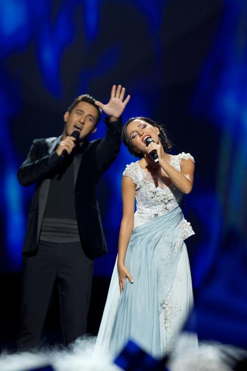 Софо Геловани и Нодико Татишвили из Грузии во втором полуфинале Евровидения-2013. Фото: Ragnar Singsaas/Getty Images