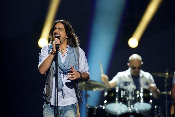 Рок-группа Dorians из Армении во втором полуфинале Евровидения-2013. Фото: Ragnar Singsaas/Getty Images