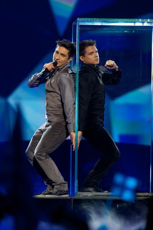 Фарид Мамедов из Азербайджана во втором полуфинале Евровидения-2013. Фото: Ragnar Singsaas/Getty Images